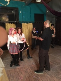 On set for SAVE YOURSELF photography courtesy of John Snell X